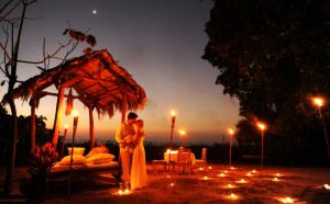 Costa Rica Wedding Candle Light